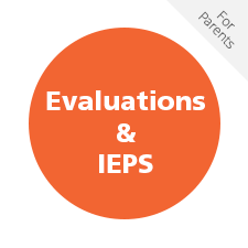 Evaluations & IEPS for Parents