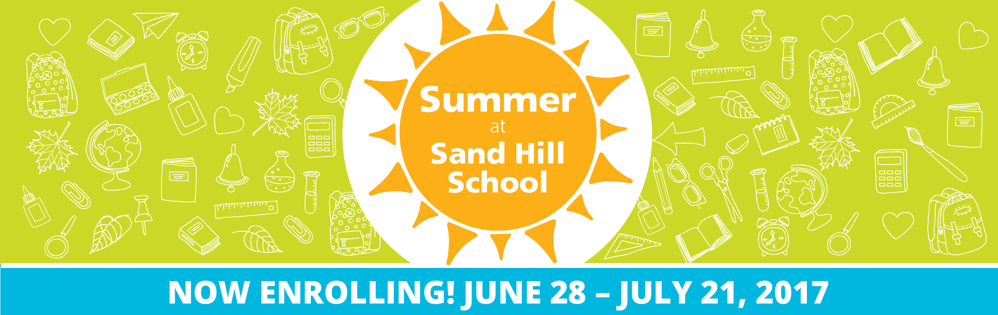Summer at Sand Hill School — Now Enrolling! June 28 – July 21, 2017